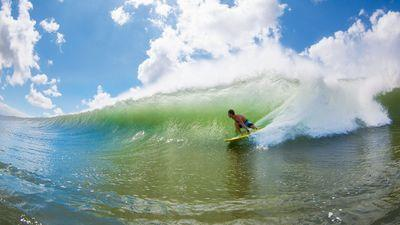 A home for surfing in Ma'alaea Bay, Maui, Hawaii
