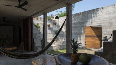 A Mexican cocktail of tropical modernism and harsh boxiness