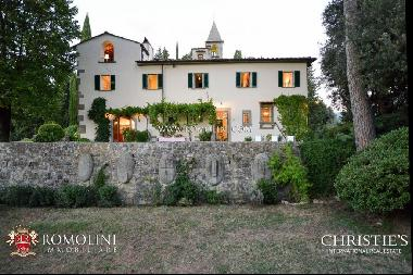 Florence - HISTORIC VILLA WITH CHURCH FOR SALE ON THE HILL OF FIESOLE