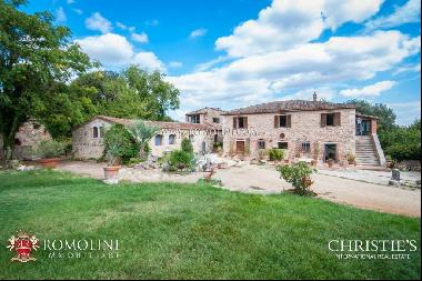 Tuscany - RAPOLANO TERME: FARMHOUSE WITH GARDEN AND OLIVE GROVE FOR SALE