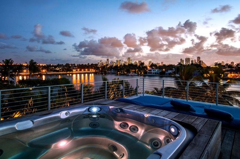 Rooftop Jacuzzi with City Views