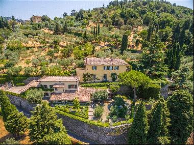 An elegant villa yards from the main square of Fiesole.