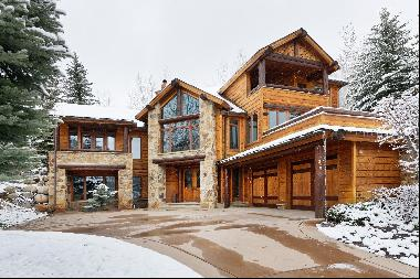 Unobstructed Aspen Mountain views from this 4 bedroom luxury rental home at the base of Sm