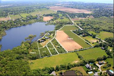 Sagaponack Village, approximately 32+/- waterfront acres in total. Three vacant building p