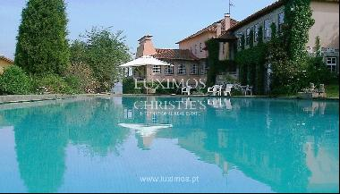 Country house with garden, swimming pool and tennis court in Quintiães, Portugal