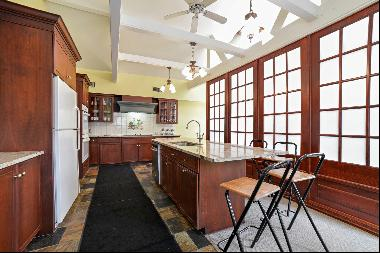 This newly-renovated home has four bedrooms, thee bathrooms, and gourmet kitchen.  A new,