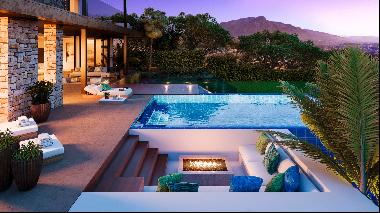 Contemporary villa with panoramic views next to the Golf