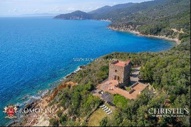 Argentario - SEAFRONT VILLA WITH DIRECT ACCESS TO THE SEA FOR SALE