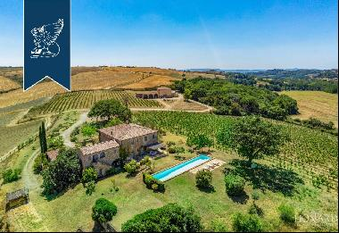 Stunning rustic-style farmstead with pool for sale in Montalcino