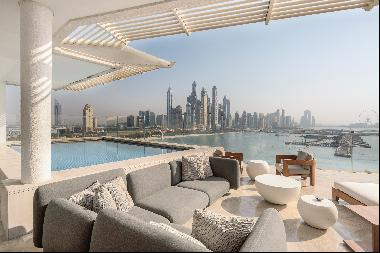 Luxury penthouse apartment in Palm Jumeirah hotel