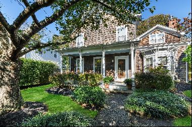 Charming Southampton Village home retains many of its original features, built-in 1870, in