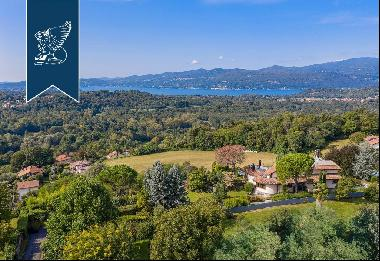 Panoramic estate in a high position by Lake Maggiore