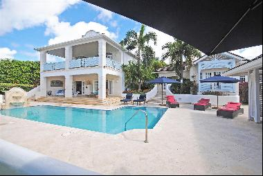 A beautiful five bedroom estate home with a pool and a very private location within the St