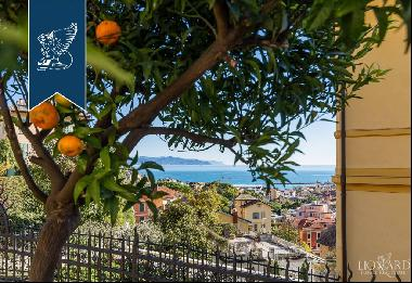 Luxury villa with a view of Liguria's crystal-blue sea