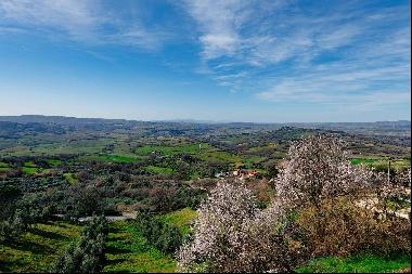 Incomparable view from the Maremma to the sea