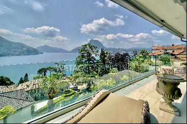 Magnificent penthouse apartment with swimming pool & breathtaking lake view for sale in C