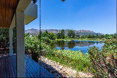 Lakeside modern home on Pearl Valley at Val de Vie