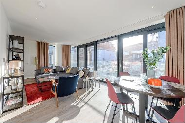 Scandi-inspired three bedroom flat with balcony to rent in Wembley Park