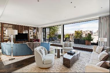 An exceptional penthouse apartment  with rooftop views of the London skyline.