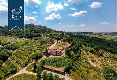 Stunning farmstead with 48 hectares of grounds with vineyards for sale in Tuscany