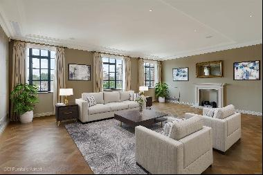 A grand two bedroom apartment for sale in Trevor Square with concierge and private parking