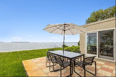 This Southampton 1 acre waterfront sits on little Peconic Bay with magnificent sunsets thi