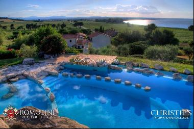 Lake Trasimeno - LAKE VIEW RESORT WITH POOL FOR SALE IN UMBRIA
