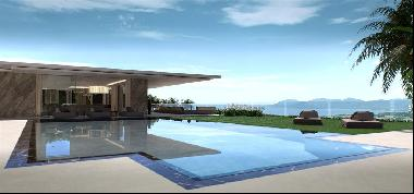 Luxury contemporary property in the heart of Cannes Californie with panoramic sea view
