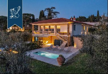 Charming Tuscan estate with a park, olive grove, and pool on the outskirts of Florence
