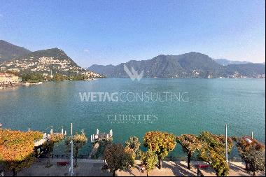 Rare & elegant apartment directly on the lakefront for sale in Lugano
