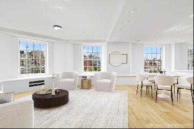 Spectacular High Floor Greenwich Village Five Bedroom with Park and City Views    Situated