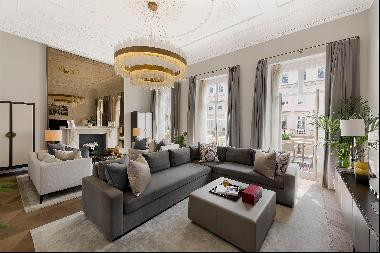 A magnificent first and second floor flat for sale in Eaton Place, Belgravia, SW1.