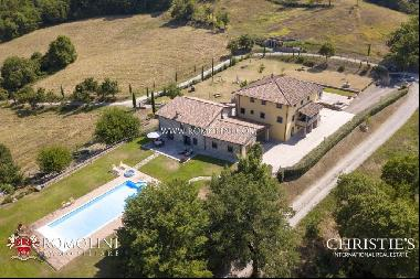 Tuscany - LUXURY VILLAS WITH POOL AND LAND FOR SALE IN CASENTINO